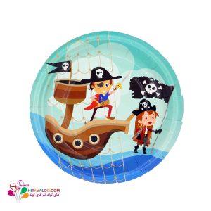 بشقاب با طرح دزدان دریایی