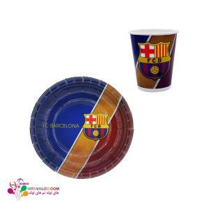 پیش دستی و لیوان تم تولد بارسلونا