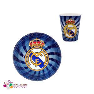 پیش دستی و لیوان تم تولد رئال مادرید