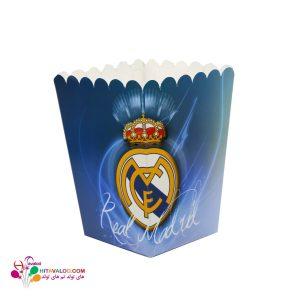 ظرف پاپکورن تم تولد رئال مادرید