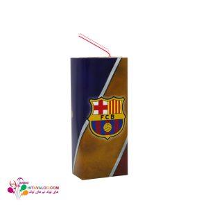 لیبل آبمیوه پاکتی تم تولد بارسلونا