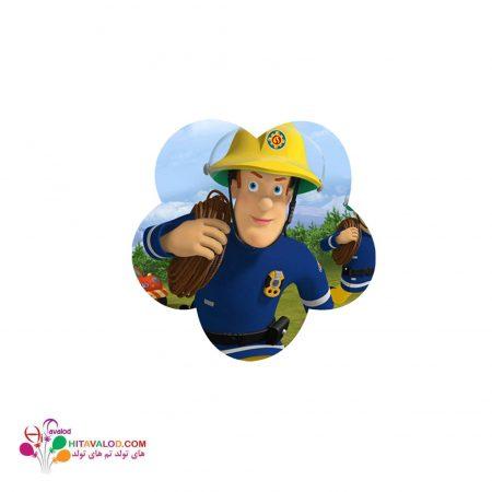 استیکر با طرح آتش نشان