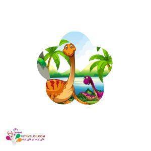 استیکر تم تولد دایناسور