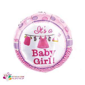 بادکنک فویلی تم تولد نوزادی دختر