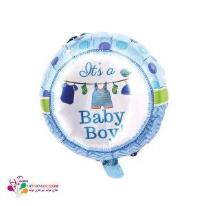 بادکنک فویلی تم تولد نوزادی پسر