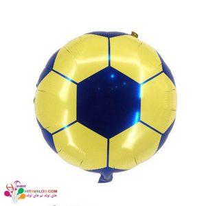 بادکنک فویلی توپ فوتبال آبی و زرد
