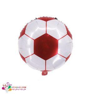 بادکنک فویلی توپ چهل تیکه فوتبال قرمز