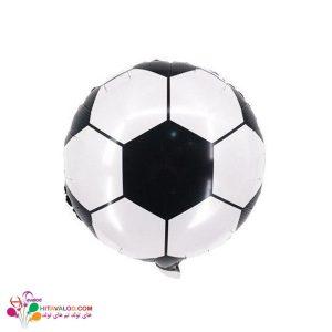 بادکنک فویلی توپ چهل تیکه فوتبال مشکی
