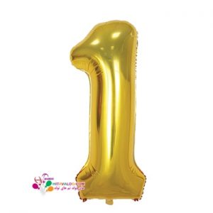 بادکنک فویلی طلایی 1