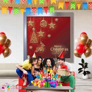 بنر مربعی تم تولد کریسمس