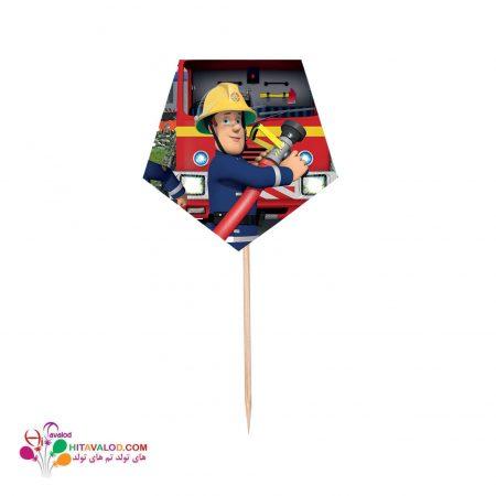 تاپر کوتاه پذیرایی با طرح آتش نشان