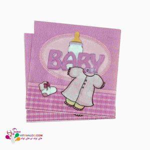 دستمال تم تولد نوزادی دختر