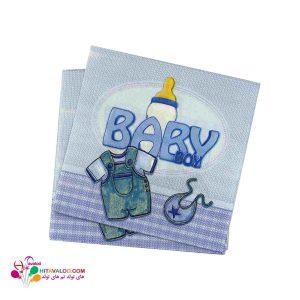 دستمال تم تولد نوزادی پسر