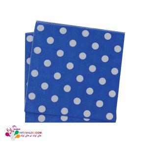 دستمال خالدار پذیرایی آبی
