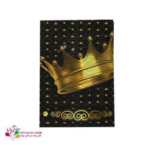 رومیزی با طرح تاج طلایی
