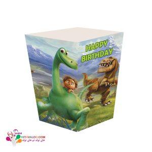 ظرف پاپکورن تم تولد دایناسور خوب