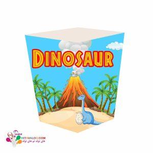 ظرف پاپکورن تم تولد دایناسور