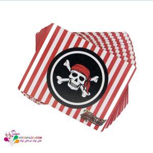 کارت دعوت تولد با طرح دزدان دریایی