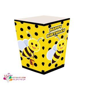 ظرف پاپکورن کوچک تم تولد زنبور