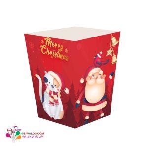 ظرف پاپکورن کوچک تم تولد کریسمس