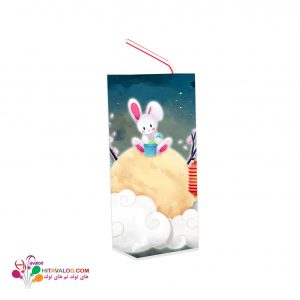 لیبل آبمیوه پاکتی تم تولد خرگوش