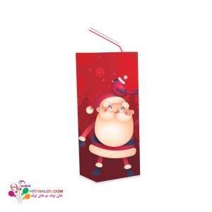 لیبل آبمیوه پاکتی تم تولد کریسمس