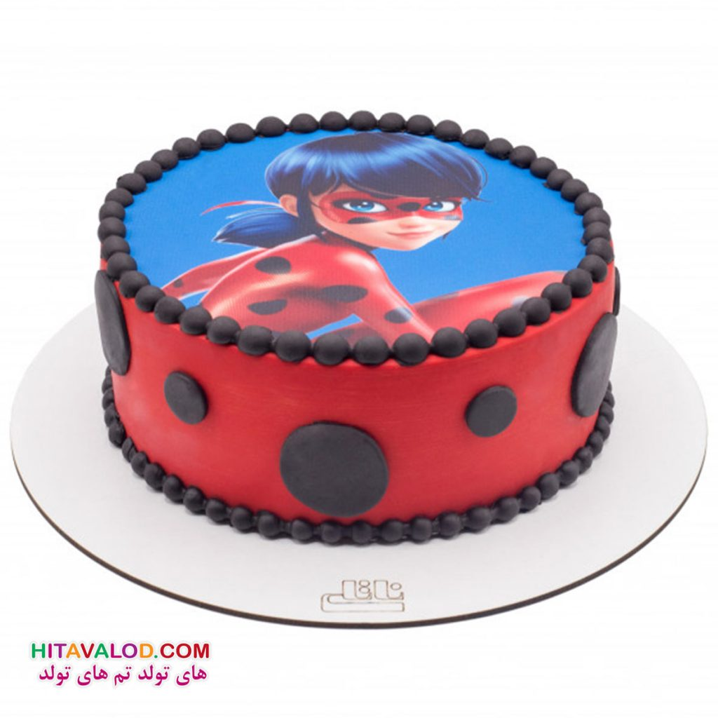 کیک دختر کفشدوزکی