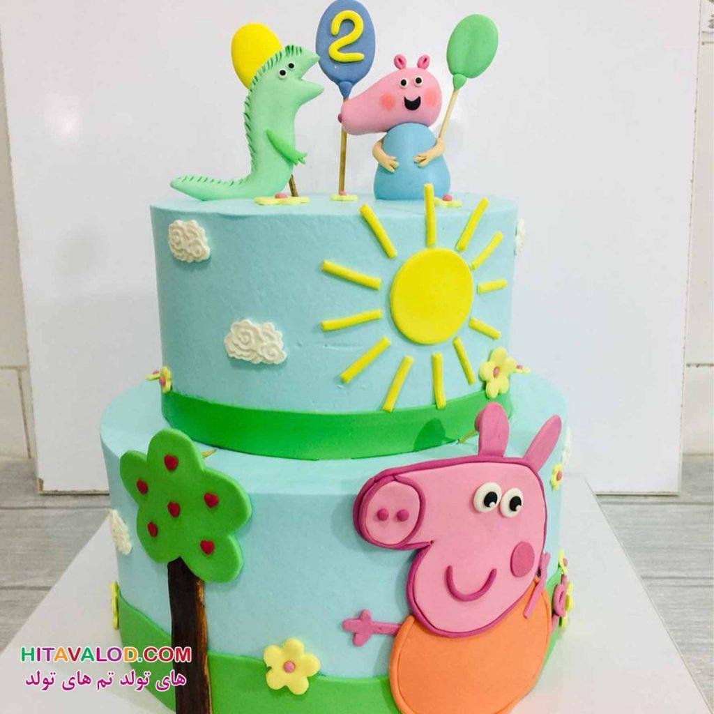 کیک تم تولد پپاپیگ