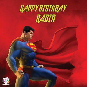 بنر مربعی تم تولد سوپرمن