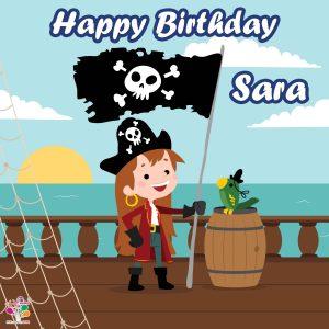 بنر تولد تم دزدان دریایی