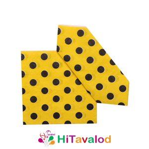 دستمال زرد خالدار
