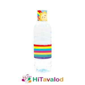 لیبل آب معدنی تم رنگین کمان