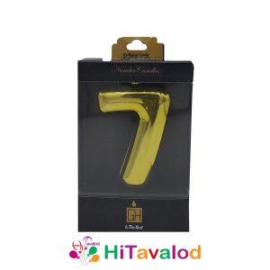 شمع عدد هفت طلایی