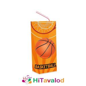 لیبل آبمیوه پاکتی تم بسکتبال