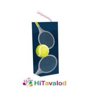 لیبل آبمیوه پاکتی تم تنیس