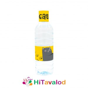 لیبل آب معدنی تم گربه