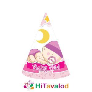 کلاه تم نوزادی دختر